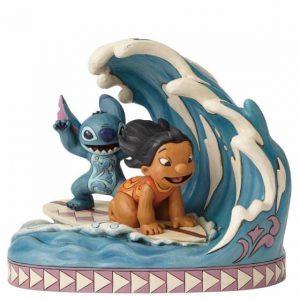 Lilo and Stitch surfing figurine