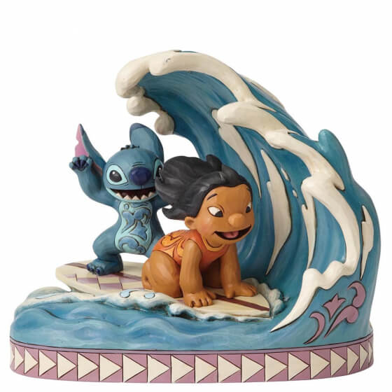 Lilo and Stitch surfing figurine