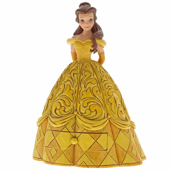 belle in a yellow dress with draw
