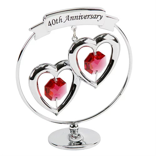 40th Ruby Wedding Anniversary Crytocraft Gift Treasured Gifts