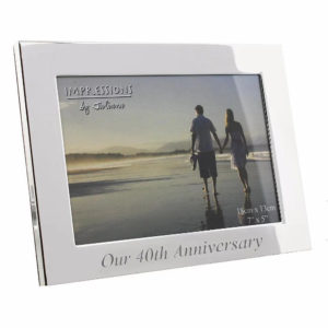 Our 40th Ruby Wedding Anniversary Photo Frame