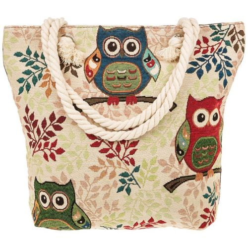 Equilibrium Tapestry Cute OWL Large Tote Bag