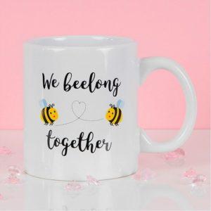 True Valentines We Beelong Together Mug