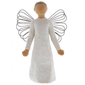 stone resin figurine of an angel
