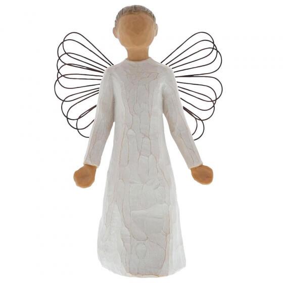 stone resin figurine of an angel