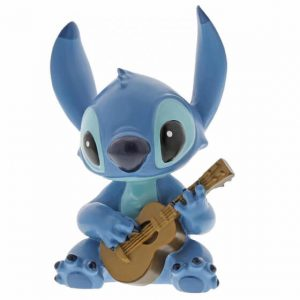 Stitch sitting playing guitar