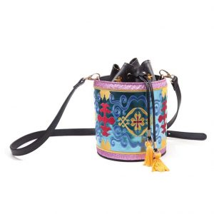 Official Disney Aladdin Magic Carpet Glitter Drawstring Bucket Bag
