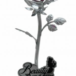 beauty and the beast rose ornament