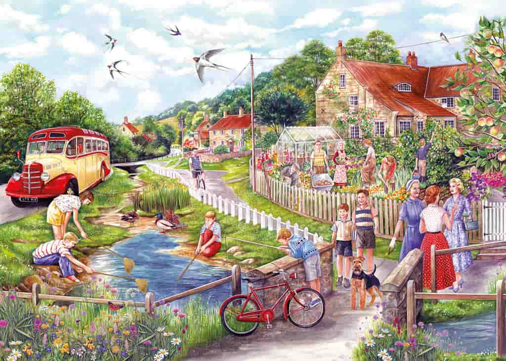 dbc6597732a0 GIBSONS JIGSAW PUZZLE - SUMMER BY THE STREAM-250XL - Treasured gifts ...