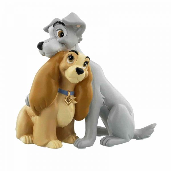 Disney lady and the tramp figurine