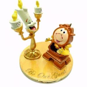 lumiere and cogsworth figurine