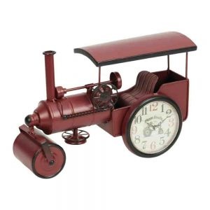Vintage Steam Roller Traction Engine Mantel Clock