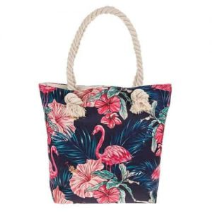 Equilibrium Midnight Flamingo Tote Bag