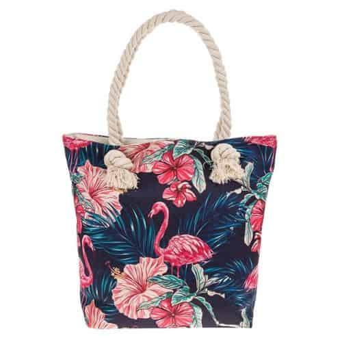 Equilibrium Midnight Flamingo Tote Bag