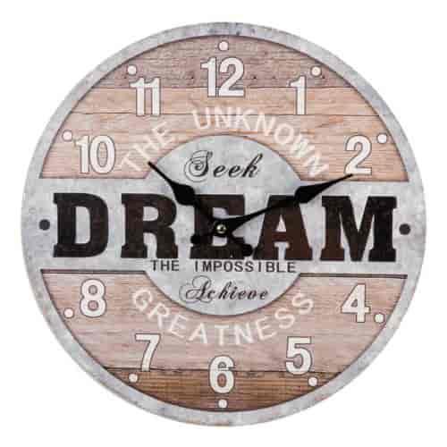 Rustic Vintage Wall Clock Dream