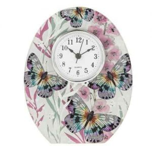 Butterfly mantel clock