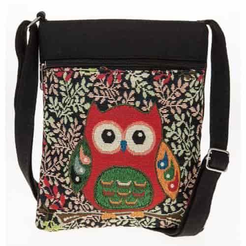Equilibrium OWL Tapestry Shoulder Bag