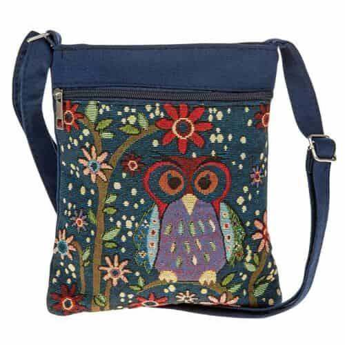 Equilibrium OWL Tapestry Bag Blue