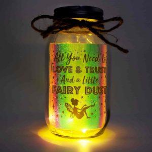Light Up Mason Jar Fairy