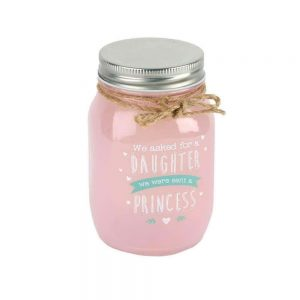 Love Life Light Up Pink Mason Jar