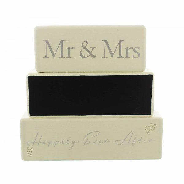 Personalised Wedding Mr & Mrs Amore Mantel Block