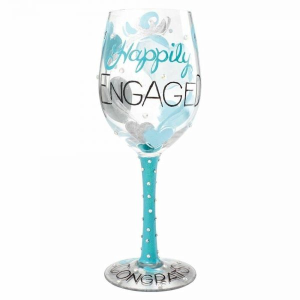 LOLITA HAPPILY ENGAGED WINE GLASS