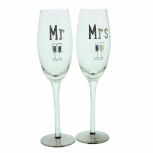 Mr & Mrs Wedding Glasses