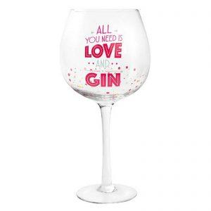 Colourful Stem Gin Tonic Glass