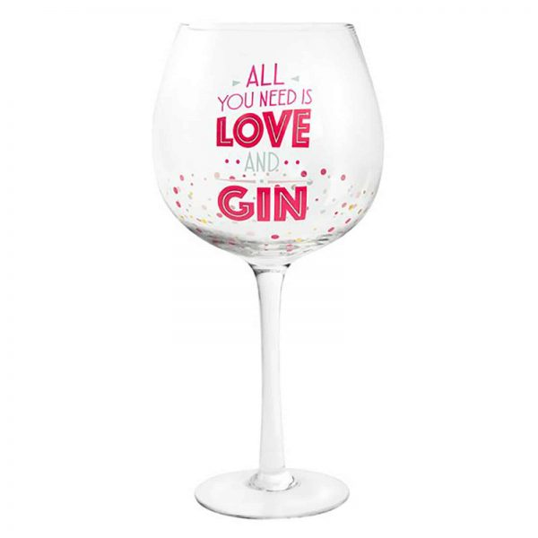 Colourful Stem Gin Tonic Glass