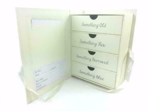 Wedding Memory Keepsake Box (inside view)