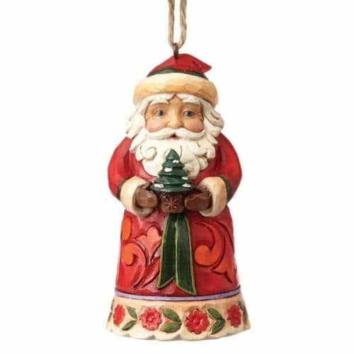 Jim Shore Heartwood Creek Mini Santa Christmas Hanging Ornament