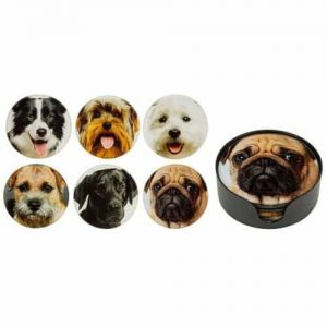 Dog Design Round Coasters