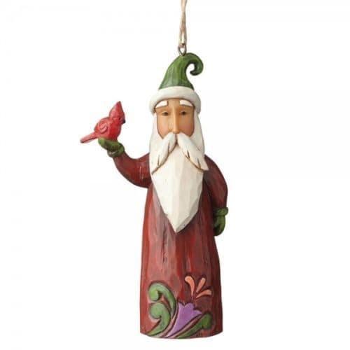 Jim Shore Folklore Santa With a Bird Christmas