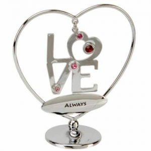 I Love You Always Heart Hanger Crystocraft