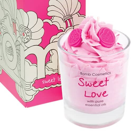 SWEET LOVE PIPED GLASS CANDLE