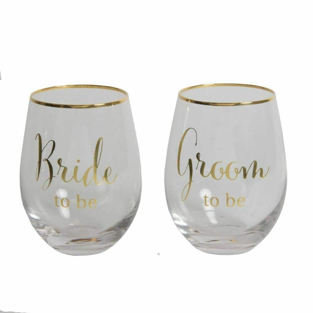 Always & Forever Stemless Wine Glasses