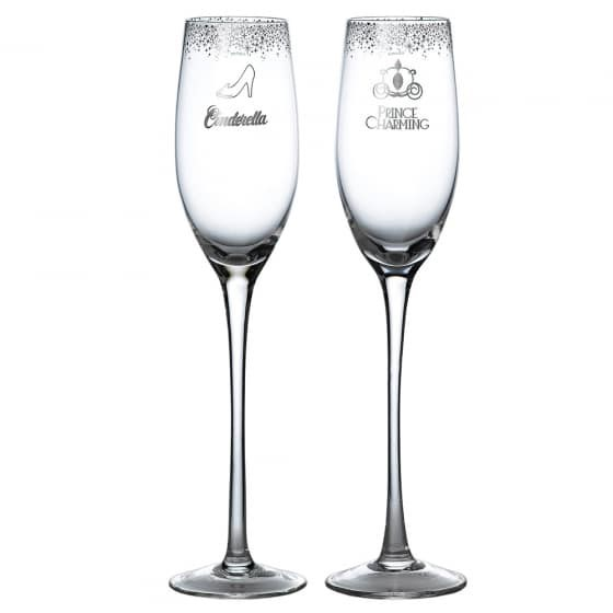 CINDERELLA WEDDING TOASTING GLASSES