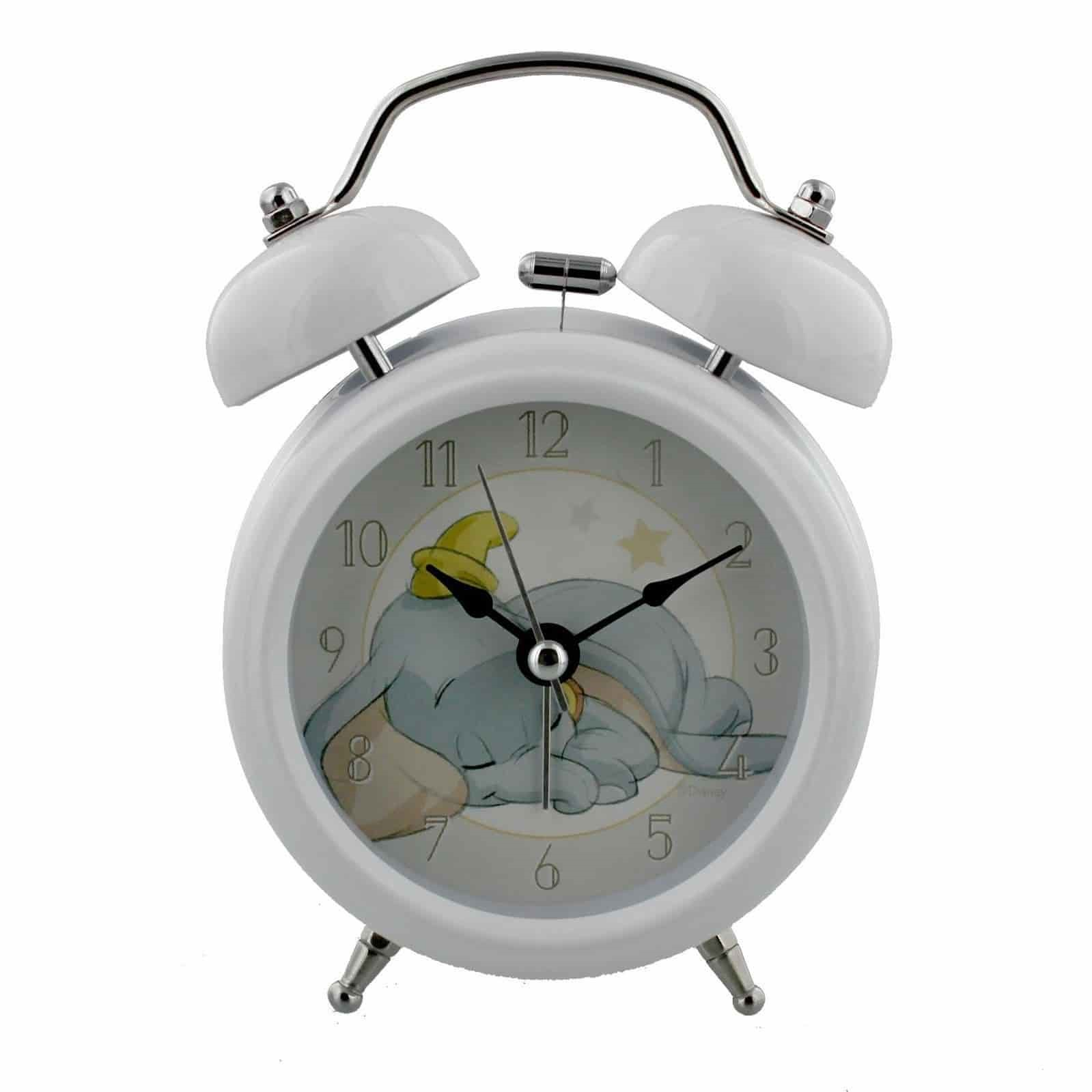 DISNEY DUMBO WHITE ALARM BELL CLOCK