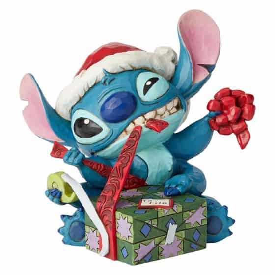 Disney Tradition Stitch with Santa Hat Figurine