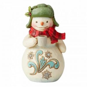 Jim Shore Christmas Snowman With Cocoa