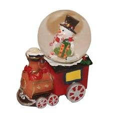 Christmas Snowglobe Snowman Train