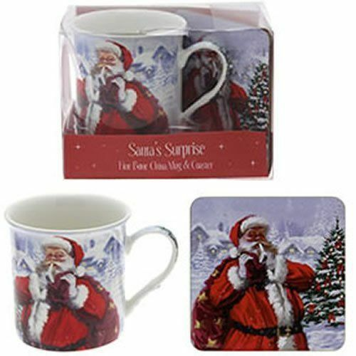 SANTA coffee Mug & Coaster Set