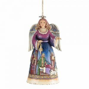 Heartwood Creek ANGEL With Nativity Scene Hanging