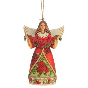 Heartwood Creek Christmas Angel With Poinsettia