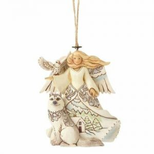 Heartwood Creek Woodland Angel With Husky Christmas Hanging Ornament
