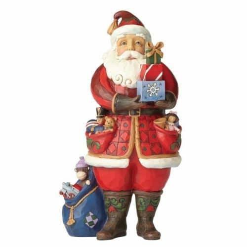 Jim Shore As You Wish Santa Holding Presents