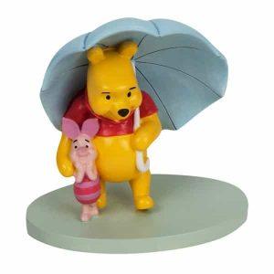 Disney Magical Moments - Pooh & Piglet Umbrella Figurine