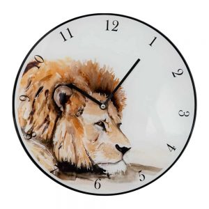 Meg Hawkins LION 30cm Wall Clock