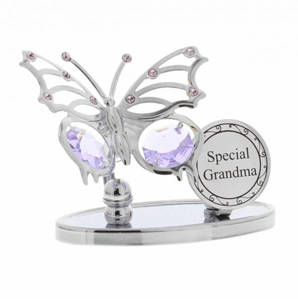 Crystocraft Silver Butterfly Swarovski Elements Crystal Special GRANDMA