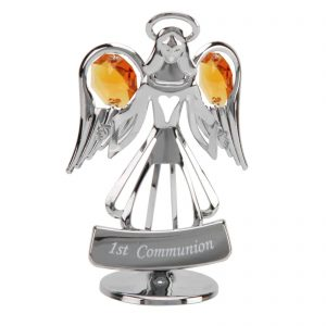 Crystocraft Keepsake Gift 1st Communion Angel with Swarovski Element